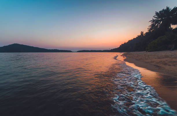 Tropical Beach During Sunset at Koh Chang island, Trat Province, Thailand, Asia